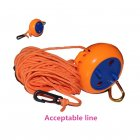 High Strength Outdoor Clothesline Retractable Rotation Recovery Box Type Tent Rope Orange