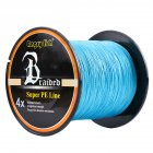 High Strength Strong 1000m/1093yds 4braid Solid Color Braided Fish Line - Blue 0.30mm-35lb