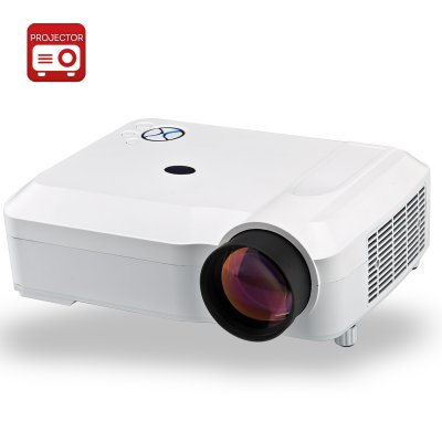 3800 Lumens HD LED Projector (White)