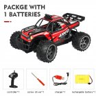 High-speed Car Remote Control Cross-country Climbing Car 2.4G Four-wheel Drive Racing Car Charging S009 Children Toys Red single battery package_1:16