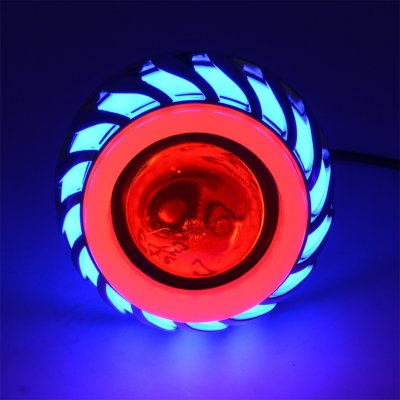 12V LED Built-in Headlight  Blue Red