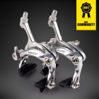 Highway Brake Caliper Rode Bike C Brake Calipers  Dual-Pivot U-shape Bike Brake Accessories Silver_Set before and after the clamp