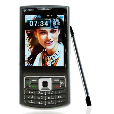 GSM Quad Band Dual SIM Multimedia Cell Phone w/ Multi-Color LED