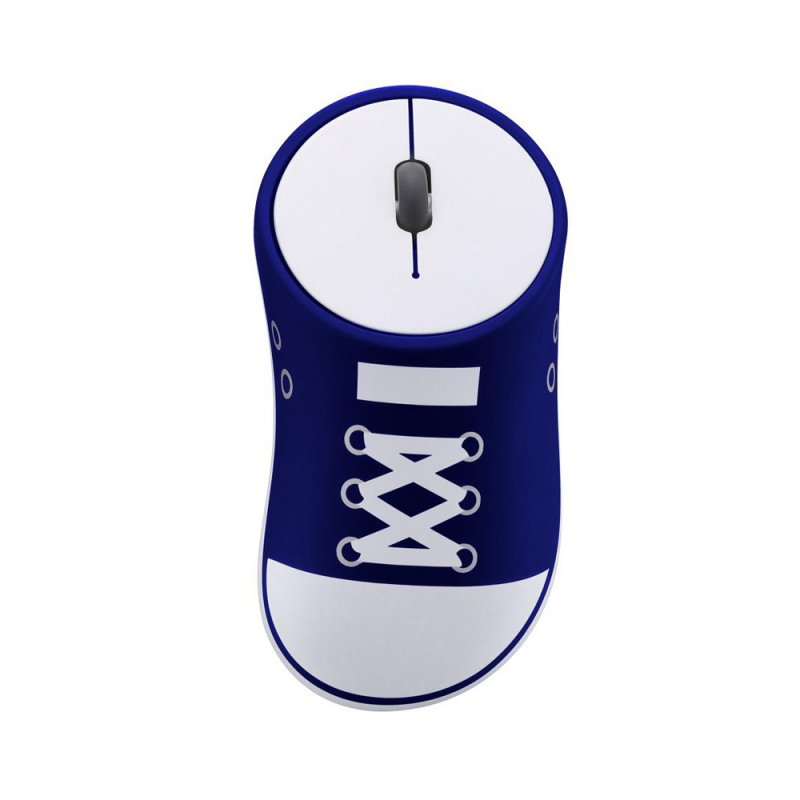 HobbyLane Wireless Mouse Shoes Shaped Portable Mobile Optical Mouse With USB Receiver 2.4GHz Ergonomic Gaming Mouse Blue+White