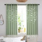 Hollow Out Flower Window Curtain for Shading Home Decoration green 1   2m high punch