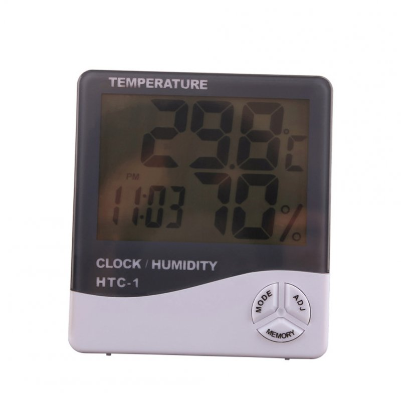 Home High Precision Electronic Digital Display Hygrometer with Alarm  gray