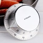 Home Kitchen Timer Alarm Clock for Student Time Management Silver