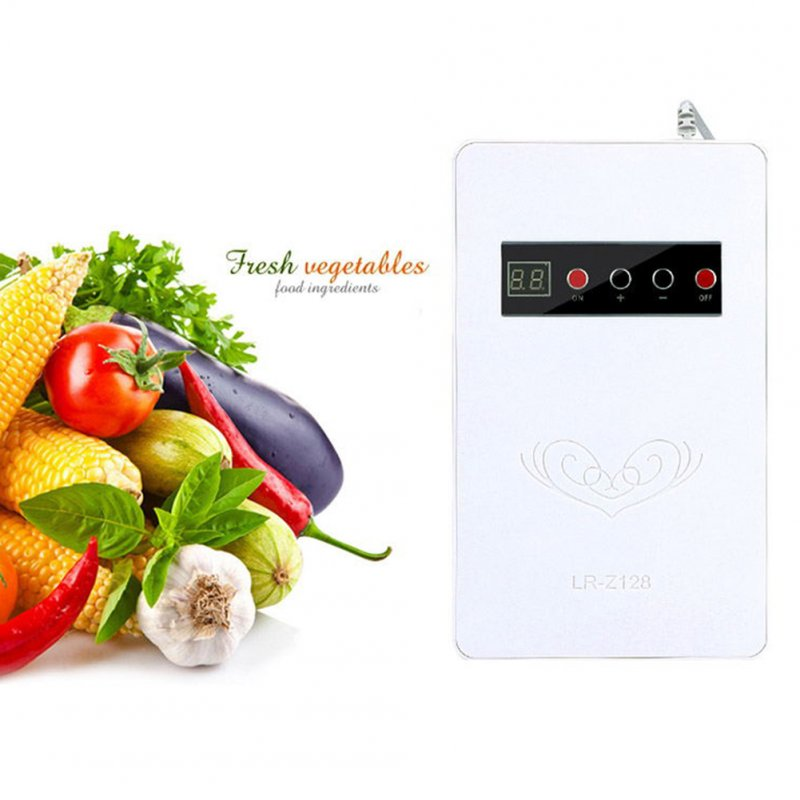 Home Multifunction Ozone Generator for Refrigerator Vegetable Meat Air Purify White European regulation 220V
