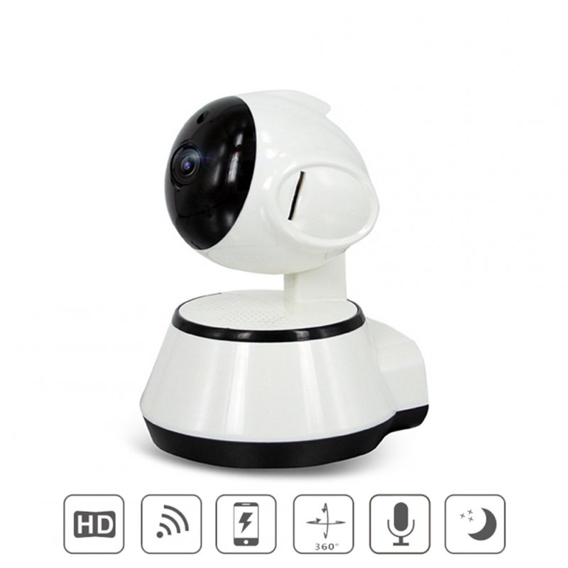Home Security Wireless Smart WiFi Camera WiFi Audio Record Baby Monitor HD Mini CCTV Camera white_British regulatory