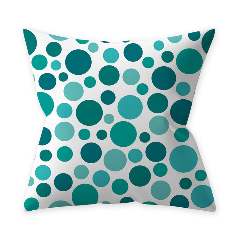Home Teal Blue Series Printing Throw Pillow Cover for Decoration 3#_45*45cm