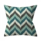 Home Teal Blue Series Printing Throw Pillow Cover for Decoration 5#_45*45cm