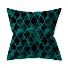 Home Teal Blue Series Printing Throw Pillow Cover for Decoration 9#_45*45cm