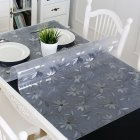 Home Transparent Cosmos Pattern Waterproof Soft Glass Table Cover 60x60cm