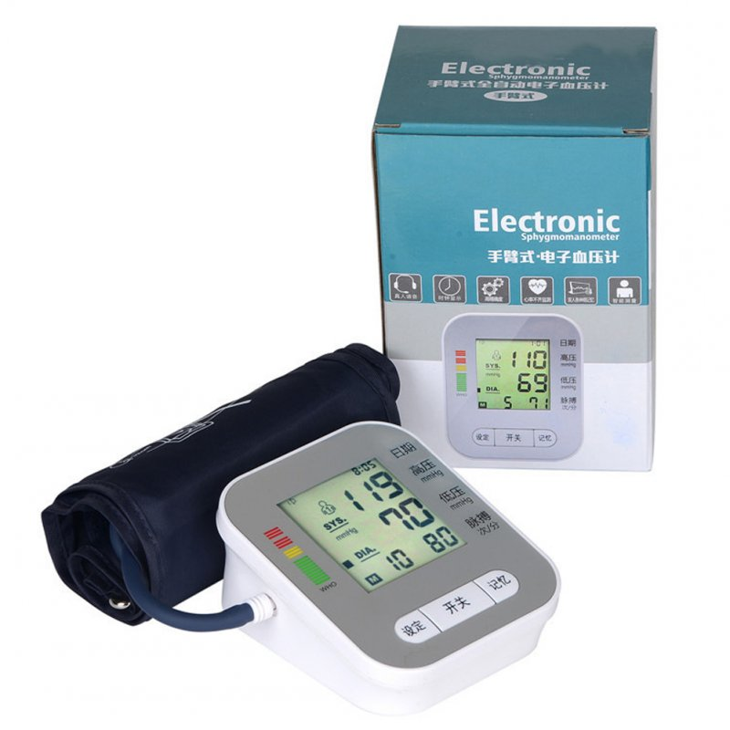 Home Use Health Care Wrist Blood Pressure Monitor Automatic Digital Tonometer for Measuring Blood Pressure English without voice