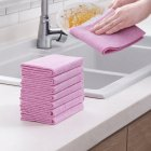 Home Washing Towel Thickened Absorbent Oil-free No Lint Cleaning Cloth 5 pcs bag