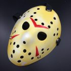Horror Cosplay Costume Halloween Mask Masquerade Scary Killer Mask Props yellow