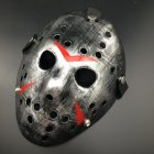 Horror Cosplay Costume Halloween Mask Masquerade Scary Killer Mask Props silver