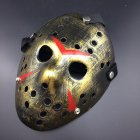 Horror Cosplay Costume Halloween Mask Masquerade Scary Killer Mask Props gold