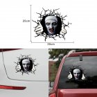 Horror Personality Decorative Nun Body Sticker Car Covering Scratch Pull Flower Sticker