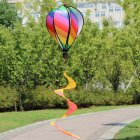 Hot Air Balloons Wind Spinner Striped Windsock Curlie Tail Colorful Kinetic Hanging Decoration Garden Yard Outdoor Toy  stripe