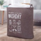 Household Laundry Storage Bag Waterproof Cloth Dirty Clothes Basket with Drawstring coffee 43   53   33cm