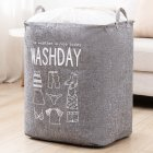 Household Laundry Storage Bag Waterproof Cloth Dirty Clothes Basket with Drawstring gray_43 * 53 * 33cm