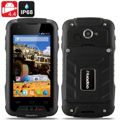 Huadoo V3 Rugged Smartphone (Black)