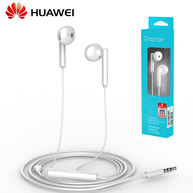 Huawei AM115 Earphone Built-in Mic Volume Control for Android Smartphone for Huawei P8 9 10 Mate7 8 9 Honor 5X 6X 8 white
