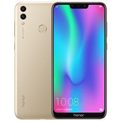 Huawei Honor 8C 4+32GB 3-Slot Face ID 6.26 Inch Snapdragon 632 Octa Core Front 8.0MP Dual Rear Camera 4000mAh gold_4+32G
