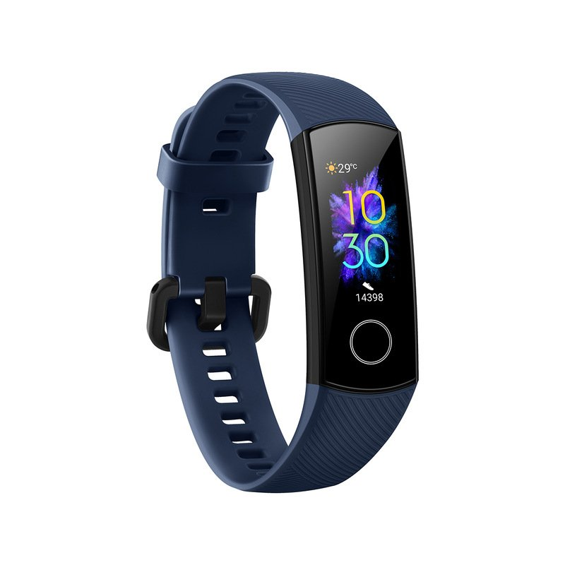 Huawei Honor Band 5 Smart Band Global Version Blood Oxygen Smartwatch AMOLED Huawei Smart Band Heart Rate Fitness Sleep Tracker blue