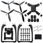Hubsan H501S X4 AIR H501A Legs Landing Gear Gimbal Mount Camera Holder Bracket Propeller Quadcopter Spare Parts black