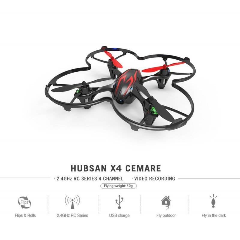 [US Direct] Hubsan X4 H107C 2.4G 4CH RC Quadcopter With 0.3MP Camera Mode 2 RTF (With Transmitter)