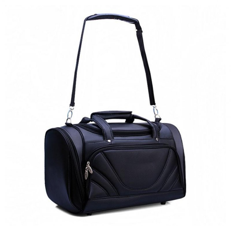 Huge Capacity Golf Clothing Bag Male PU Golf Bag Multi-function Clothes black
