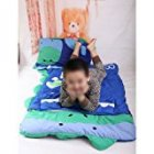 HuntGold Big Cartoon Child Boy and Girl Sleeping Bag Sheet Slumber Bag w/Pillow 140cm*60cm(blue dinosaur)