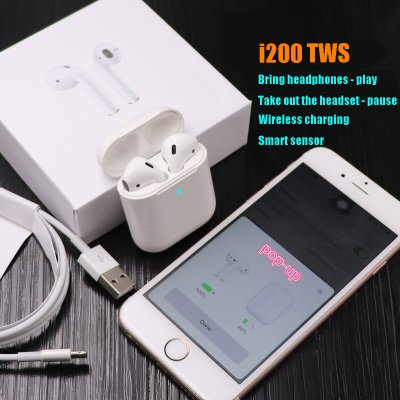 TWS i200 Bluetooth Earphone - White