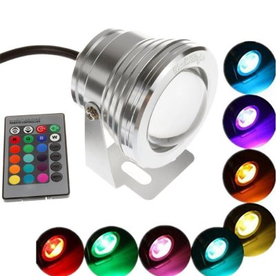 IP65 Waterproof Colourful LED Underwater Lamp with Remote Control Spotlamp for Swimming Pool Pond Fountain Aquarium