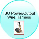 ISO Power Output Wire Harness for CVHA C20 7 inch GPS Car DVD Player