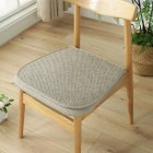 Ice Silk Dining Chair Cushion Cool Spring Summer Vine Seat Pad with Straps 40*45cm Grey_40 * 45cm