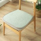 Ice Silk Dining Chair Cushion Cool Spring Summer Vine Seat Pad with Straps 40*45cm Emerald _40 * 45cm