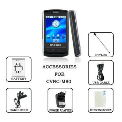 Accessories Pack for M80 - The Robot Cellphone