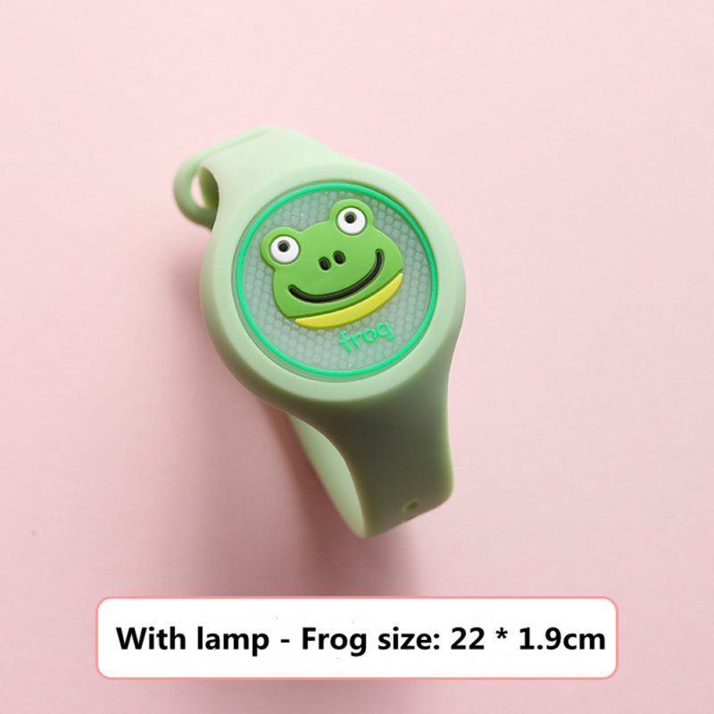 Indoor Cartoon Anti Mosquito Repellent Bracelets Baby Infant Children Luminous Hand Ring frog