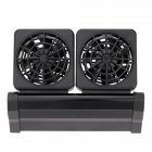 Indoor Home Plastic Black Aquarium Coral Reef Fish Tank Cooling Strong Fans  Dual heads European regulations