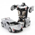 Inertia Crash PK Car Deformation Robot Action Figures Toy for Kids gray