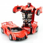 Inertia Crash PK Car Deformation Robot Action Figures Toy for Kids red