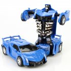 Inertia Crash PK Car Deformation Robot Action Figures Toy for Kids blue