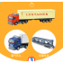 Inertial Container Trailer Truck Toys 1 64 Alloy Container Car Model Pull Back Car Toy for Gift Collection