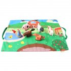 Infant Newborn Baby Car Farm Animals Plush Crawling Pad Game Map with Car Toy 50*37cm Farm game map