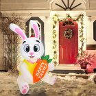 Inflatable Rabbit Model 1.5m With Lights Glowing Holiday Decoration Props For Easter UK plug