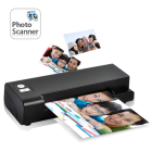 Instantly convert all your traditional photos into digital files with the Easy Feed One Touch Photo and Business Card Scanner  Fast  easy  and efficient