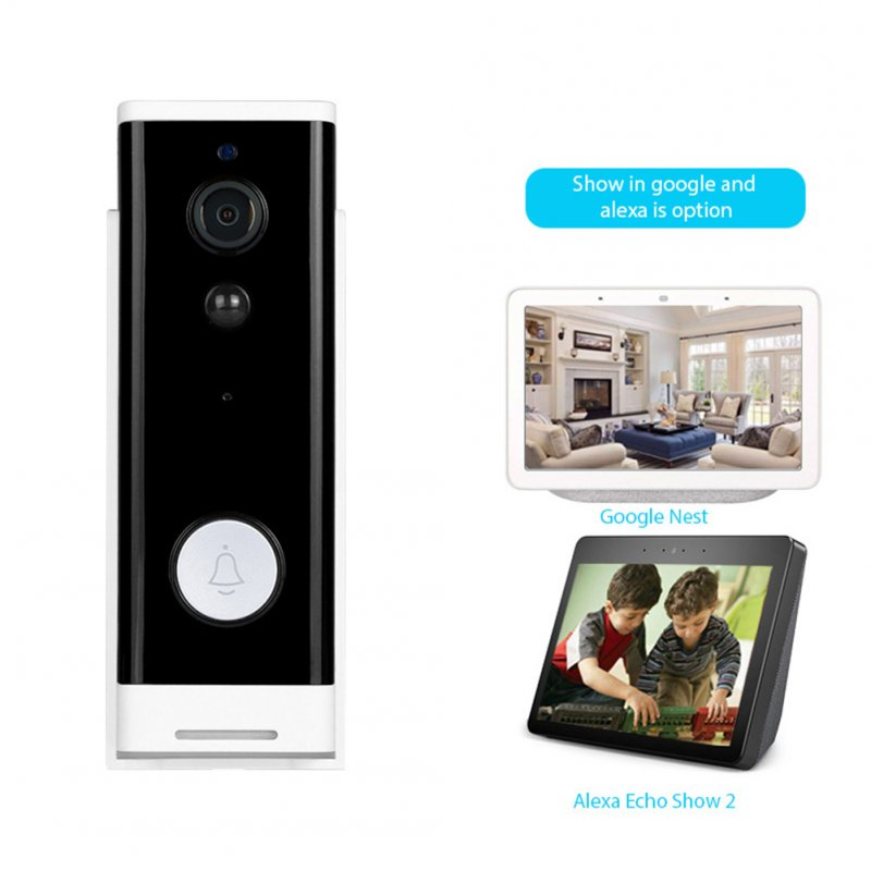 Intelligent WIFI Doorbell 1080P Wireless Visual Talkback Mobie Phone Remote Camera black_Standard